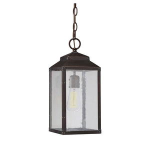 Brennan 1 Light Outdoor Hanging Lantern in English Bronze w/ Gold Finish by Savoy House 5-342-213
