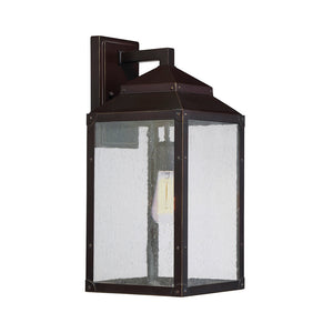Brennan 1 Light Outdoor Wall Lantern in English Bronze w/ Gold Finish by Savoy House 5-344-213