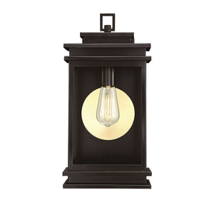 Reading 1 Light Outdoor Wall Lantern in English Bronze Finish by Savoy House 5-401-13