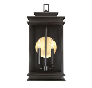 Reading 2 Light Outdoor Wall Lantern in English Bronze Finish by Savoy House 5-402-13