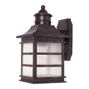 Seafarer 1 Light Outdoor Wall Lantern in Rustic Bronze Finish by Savoy House 5-440-72