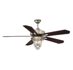 Trudy  Light Ceiling Fan Ceiling Fan in Satin Nickel Finish by Savoy House 52-135-5CN-SN