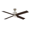 Dayton 1 Light Ceiling Fan  in Satin Nickel Finish by Savoy House 52-6110-4CN-SN