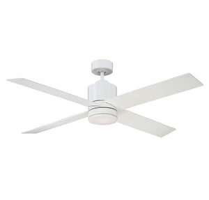 Dayton 1 Light Ceiling Fan  in White Finish by Savoy House 52-6110-4WH-WH