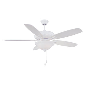 Mystique 3 Light Ceiling Fan  in White Finish by Savoy House 52-831-5WH-WH