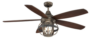 Alsace 3 Light Ceiling Fan Ceiling Fan in Reclaimed Wood Finish by Savoy House 52-840-5CN-196