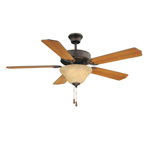 First Value 2 Light Ceiling Fan  in English Bronze Finish by Savoy House 52-ECM-5RV-13
