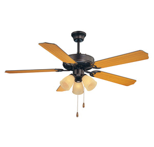 First Value 3 Light Ceiling Fan  in English Bronze Finish by Savoy House 52-EUP-5RV-13
