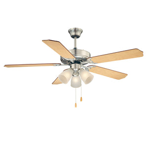 First Value 3 Light Ceiling Fan  in Satin Nickel Finish by Savoy House 52-EUP-5RV-SN