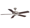 Builder Specialty  Light Ceiling Fan  in Satin Nickel Finish by Savoy House 52-FAN-5CN-SN