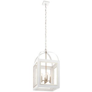 Vath 4 Light Large Foyer Pendant in White Finish by Kichler 52029WH