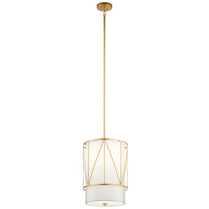 Birkleigh 1 Light Pendant in Classic Gold Finish by Kichler 52073CLG