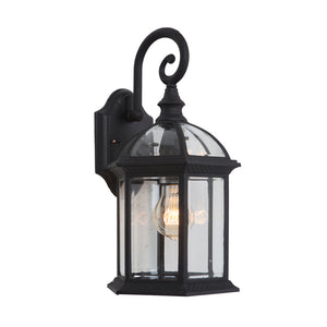 Anita Collection 1 Light Exterior Wall Light in Black by Yosemite Home Décor 5271BL