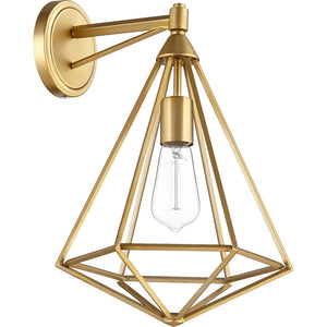 Bennett 1 Light Wall Mount in Aged Brass Finish 5311-1-80