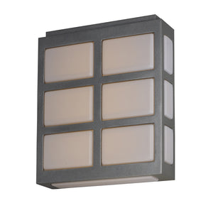Maxim Lighting 53592WTMS Packs LED Outdoor Wall Sconce in Metallic Silver Finish