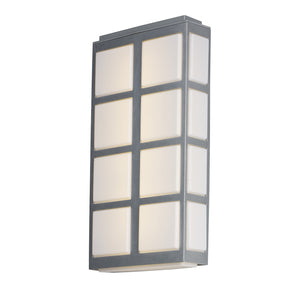 Maxim Lighting 53594WTMS Packs LED Outdoor Wall Sconce in Metallic Silver Finish
