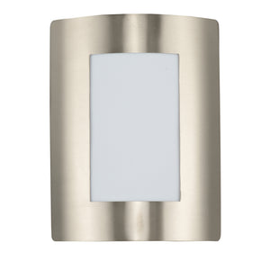Maxim Lighting 54322WTSST View EE 1-Light Wall Sconce in Stainless Steel Finish