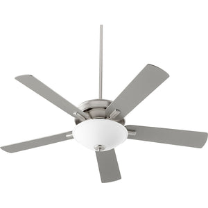 Premier 1 Light Ceiling Fan in Satin Nickel Finish 54525-65