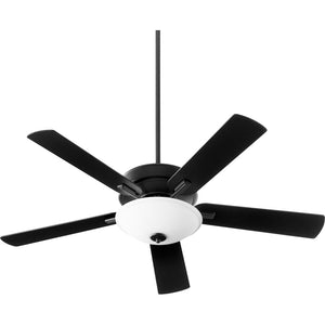 Premier 1 Light Ceiling Fan in Noir Finish 54525-69