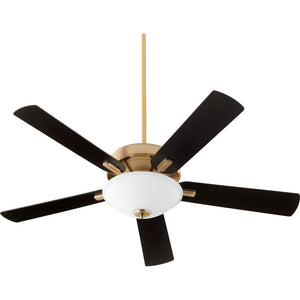 Premier 1 Light Ceiling Fan in Aged Brass Finish 54525-80