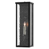 Tanzy Small Outdoor Wall Sconce in Midnight by Currey and Company 5500-0037