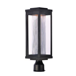 Maxim Lighting 55900CRBK Salon LED 1-Light Outdoor Post in Black Finish