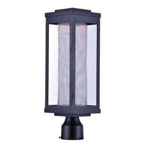 Maxim Lighting 55900MSCBK Salon LED 1-Light Outdoor Post in Black Finish