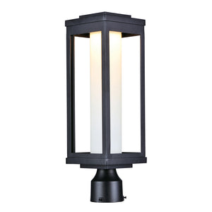 Maxim Lighting 55900SWBK Salon LED 1-Light Outdoor Post in Black Finish