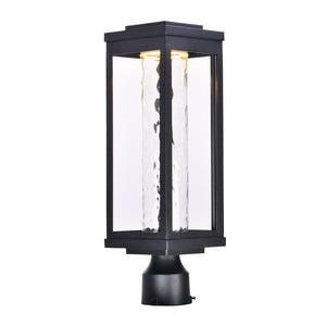 Maxim Lighting 55900WGBK Salon LED 1-Light Outdoor Post in Black Finish