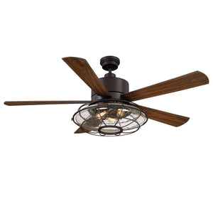 Connell  Light Ceiling Fan  in English Bronze Finish by Savoy House 56-578-5WA-13