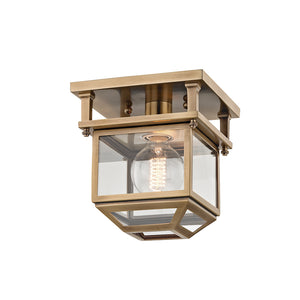Rutherford 1 Light Semi Flush By Hudson Valley 5608-AGB in Aged Brass Finish