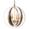 Crystorama 585-EB-GA Luna 6 Light Bronze & Gold Sphere Large Chandelier