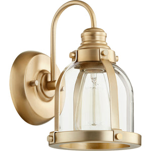 1 Light Wall Mount in Aged Brass Finish 586-1-80