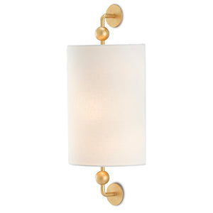 Tavey Gold Wall Sconce in Contemporary Gold Leaf by Currey and Company 5900-0031