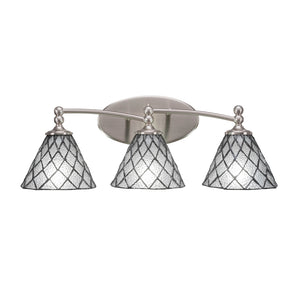 Toltec 593-BN-9185 Bathroom Lighting in Dark Granite Finish