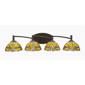 Toltec 594-DG-9465 Bathroom Lighting in Dark Granite Finish