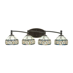 Toltec 594-DG-9485 Bathroom Lighting in Dark Granite Finish