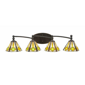 Toltec 594-DG-9615 Bathroom Lighting in Dark Granite Finish