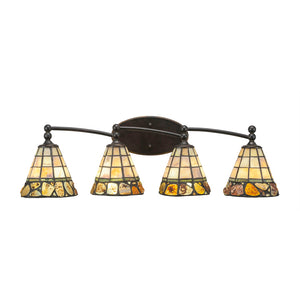 Toltec 594-DG-9735 Bathroom Lighting in Dark Granite Finish