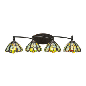 Toltec 594-DG-9875 Bathroom Lighting in Dark Granite Finish