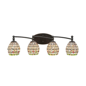 Toltec 594-DG-9881 Bathroom Lighting in Dark Granite Finish