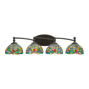 Toltec 594-DG-9905 Bathroom Lighting in Dark Granite Finish