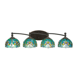 Toltec 594-DG-9925 Bathroom Lighting in Dark Granite Finish