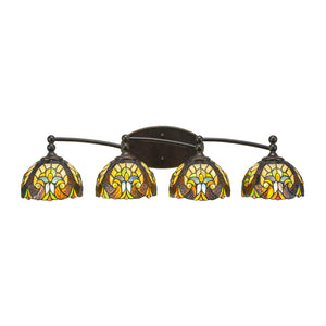 Toltec 594-DG-9945 Bathroom Lighting in Dark Granite Finish