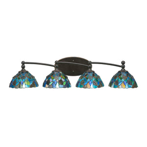 Toltec 594-DG-9955 Bathroom Lighting in Dark Granite Finish