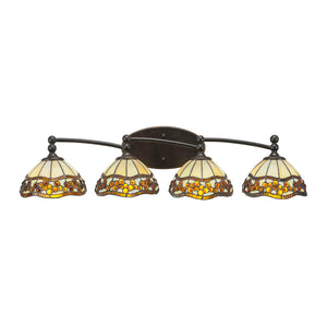 Toltec 594-DG-9975 Bathroom Lighting in Dark Granite Finish