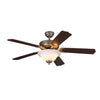 "Homeowner'S Deluxe Fan 52"" Brushed Pewter Indoor Ceiling Fan by Monte Carlo Fans 5HS52BPD-L"