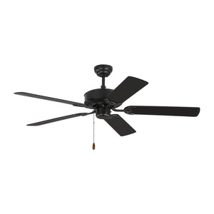 "Haven 52"" Matte Black Indoor Ceiling Fan by Monte Carlo Fans 5HV52BK"