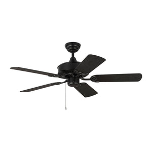 "Haven Outdoor 44"" Matte Black Outdoor Ceiling Fan by Monte Carlo Fans 5HVO44BK"
