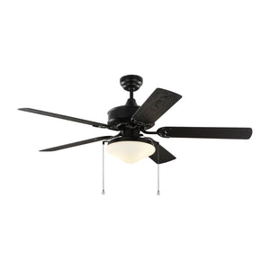 "Haven Outdoor Led 52"" Matte Black Outdoor Ceiling Fan by Monte Carlo Fans 5HVO52BKD"